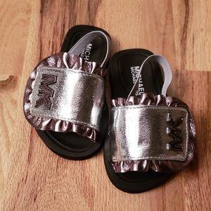 NWT Michael Kors Metallic Toddler Sandles